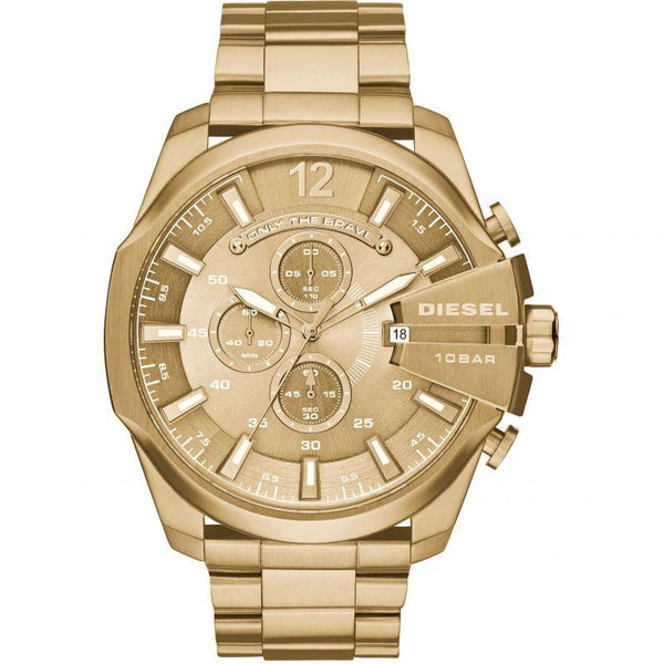 Mens Mega Chief Gold Chronograph Diesel Watch DZ4360