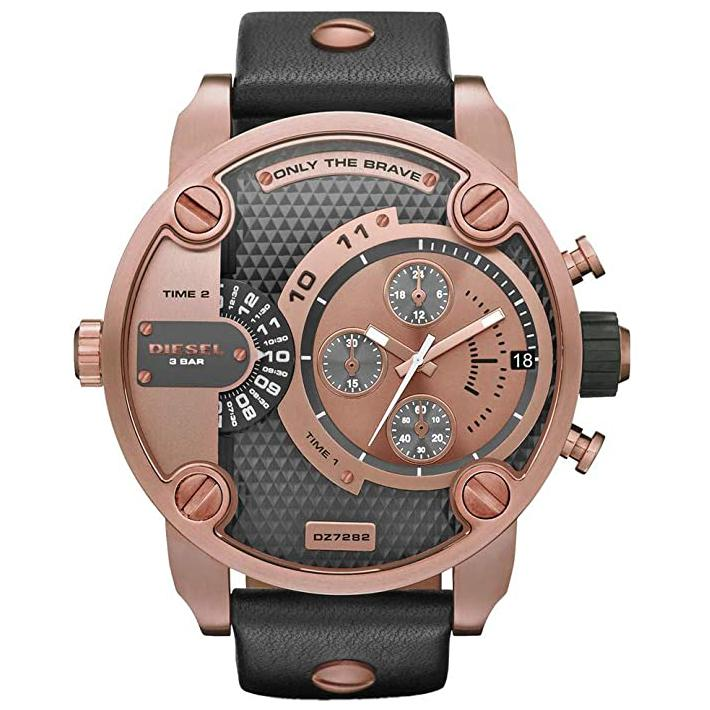 Mens / Gents Little Daddy Rose Gold Chronograph Diesel Designer Watch DZ7282