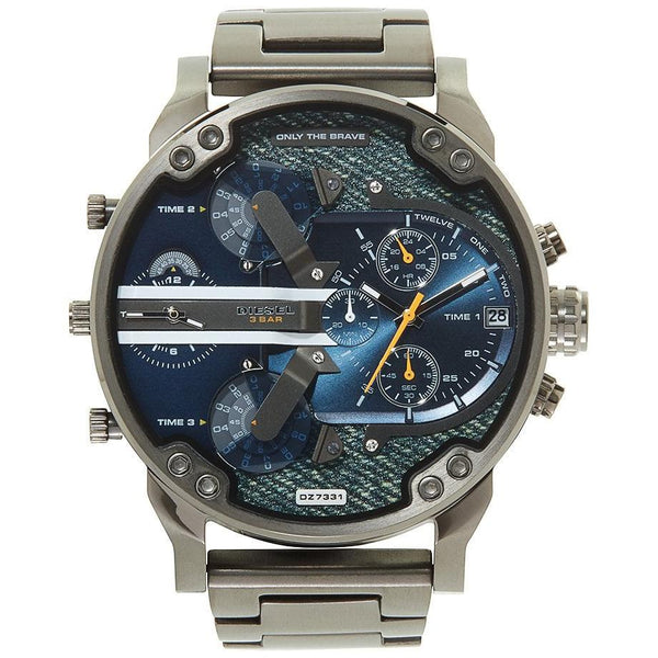 Mens / Gents Daddy 2.0 Gunmetal Grey Stainless Steel Chronograph Diesel Designer Watch DZ7331