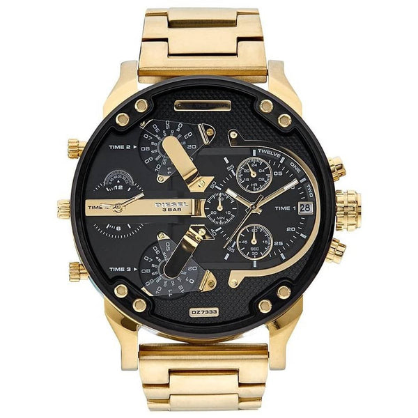 Mens Daddy 2.0 Gold Chronograph Diesel Watch DZ7333