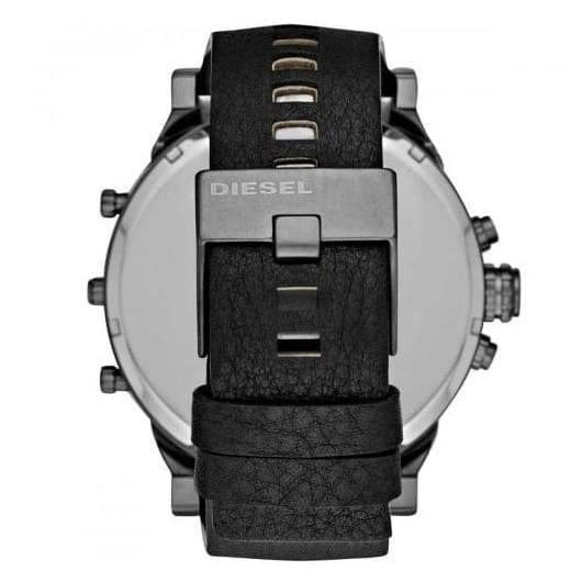 Mens / Gents Mr Daddy 2.0 Black Leather Strap Chronograph Diesel Designer Watch DZ7348