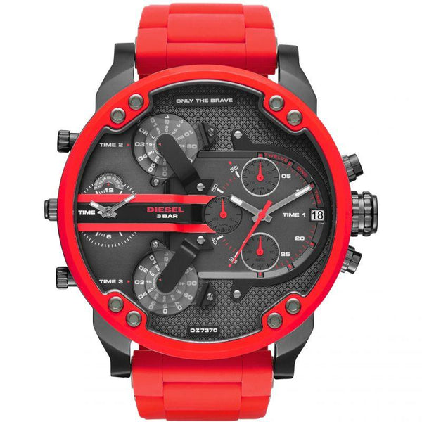 Mens Daddy 2.0 Red Chronograph Diesel Watch DZ7370