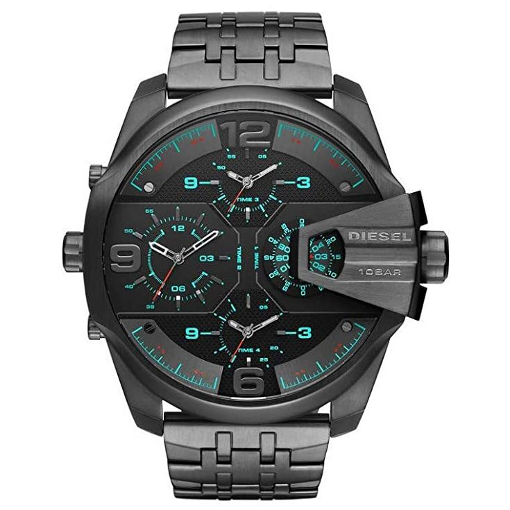 Mens / Gents Uber Chief Gunmetal Stainless Steel Diesel Designer Watch DZ7372