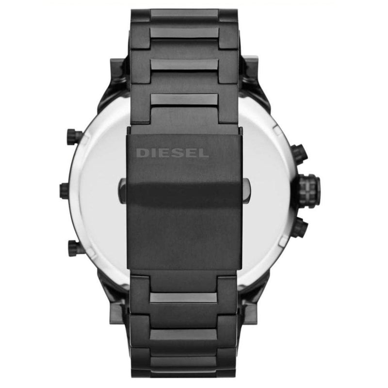 Mens / Gents Mr Daddy 2.0 Black Stainless Steel Diesel Designer Watch DZ7395