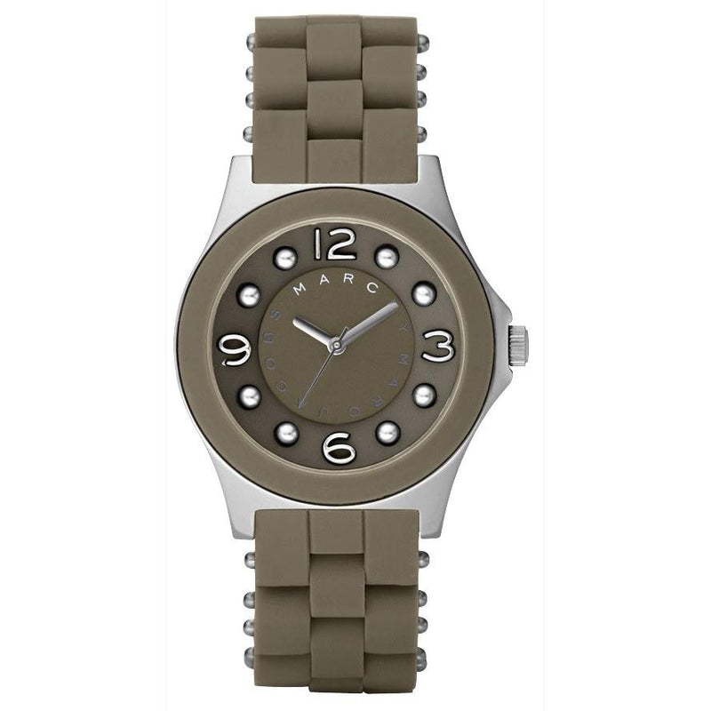 Ladies / Womens Pelly Brown Rubber Strap Marc Jacobs Designer Watch MBM2539