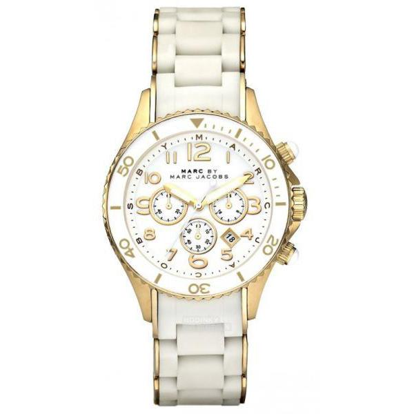 Ladies / Womens Rock Two-Tone White Chronograph Marc Jacobs Designer Watch MBM2546