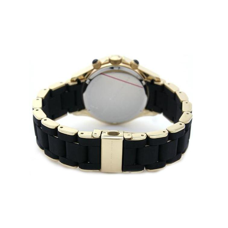 Ladies / Womens Black and Gold Stainless Steel Marc Jacobs Designer Watch MBM2552