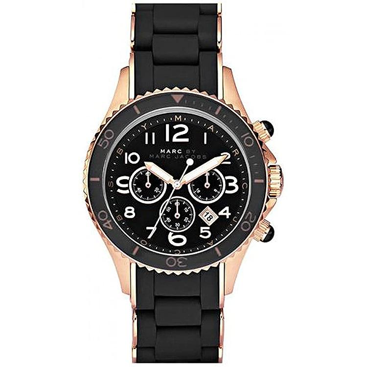 Ladies / Womens Pelly Black Dial Rose Gold Stainless Steel Marc Jacobs Designer Watch MBM2553