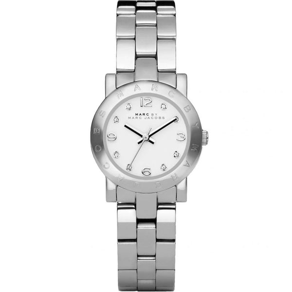 Ladies / Womens Mini AMY Silver Stainless Steel Marc Jacobs Designer Watch MBM3055