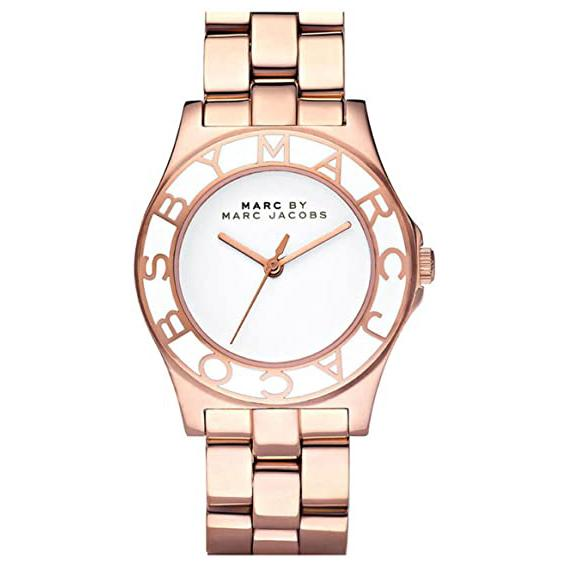 Ladies / Womens Rose Gold Stainless Steel Marc Jacobs Designer Watch MBM3075