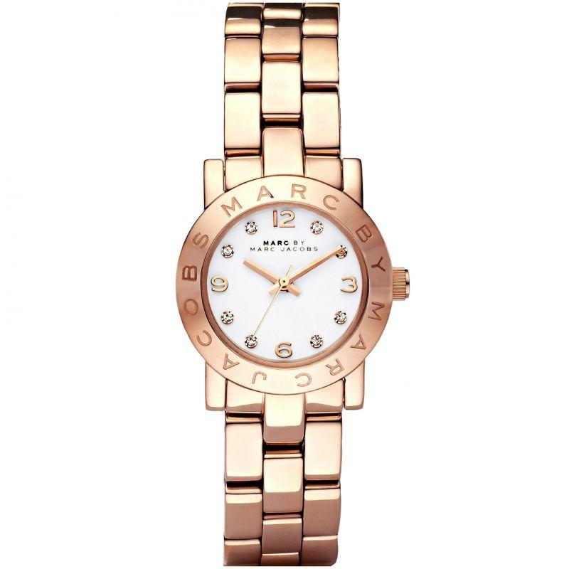Ladies / Womens Mini AMY Rose Gold Stainless Steel Marc Jacobs Designer Watch MBM3078