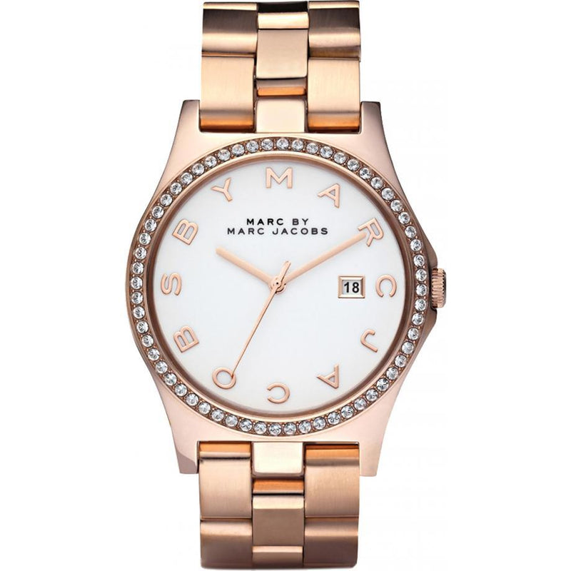 Ladies / Womens Henry Rose Gold Stainless Steel Marc Jacobs Designer Watch MBM3079