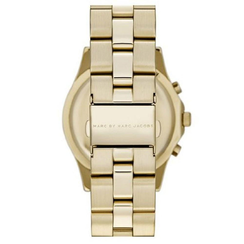 Ladies / Womens Blade Gold Stainless Steel Chronograph Marc Jacobs Designer Watch MBM3101
