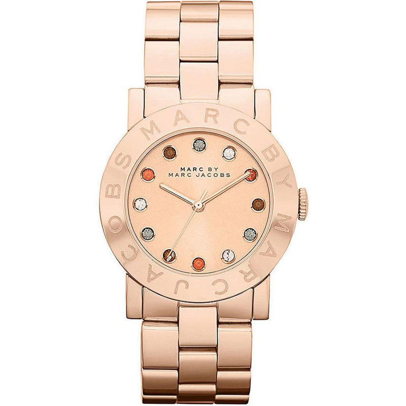 Ladies / Womens Blade Rose Gold Stainless Steel Marc Jacobs Designer Watch MBM3142