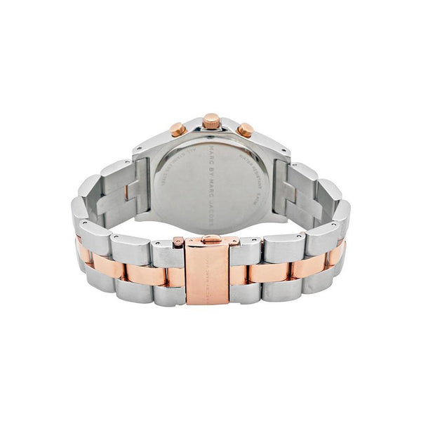 Ladies / Womens Blade Two-Tone Rose Gold Stainless Steel Marc Jacobs Designer Watch MBM3178