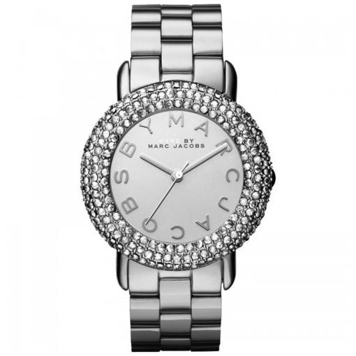Ladies / Womens Marci Crystal Silver Stainless Steel Marc Jacobs Designer Watch MBM3190