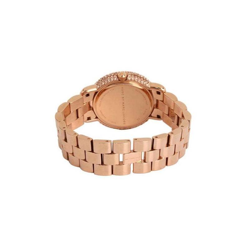 Ladies / Womens Marci Crystal Rose Gold Stainless Steel Marc Jacobs Designer Watch MBM3192