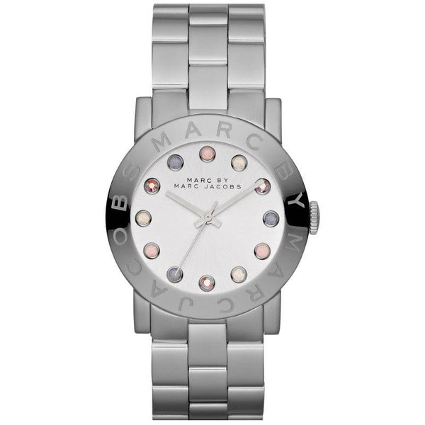 Ladies / Womens AMY Silver Stainless Steel Marc Jacobs Designer Watch MBM3214