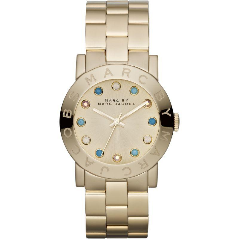 Ladies / Womens AMY Gold Stainless Steel Marc Jacobs Designer Watch MBM3215