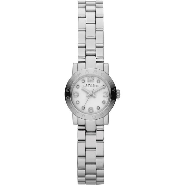 Ladies / Womens AMY Dinky Silver Stainless Steel Marc Jacobs Designer Watch MBM3225