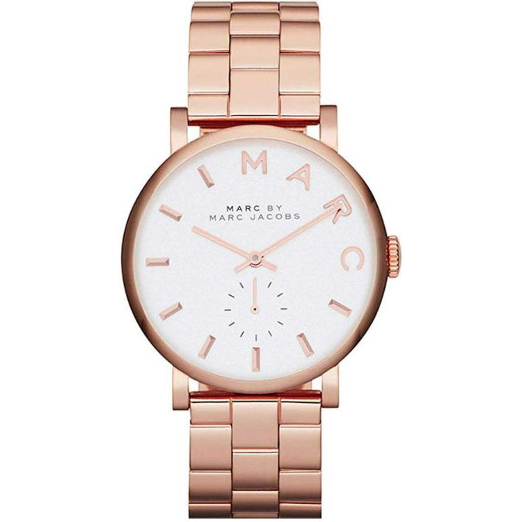 Ladies / Womens Baker Rose Gold Stainless Steel Marc Jacobs Designer Watch MBM3244