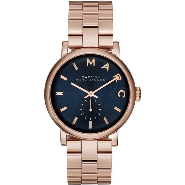 Ladies / Womens Baker Rose Gold Stainless Steel Marc Jacobs Designer Watch MBM3330