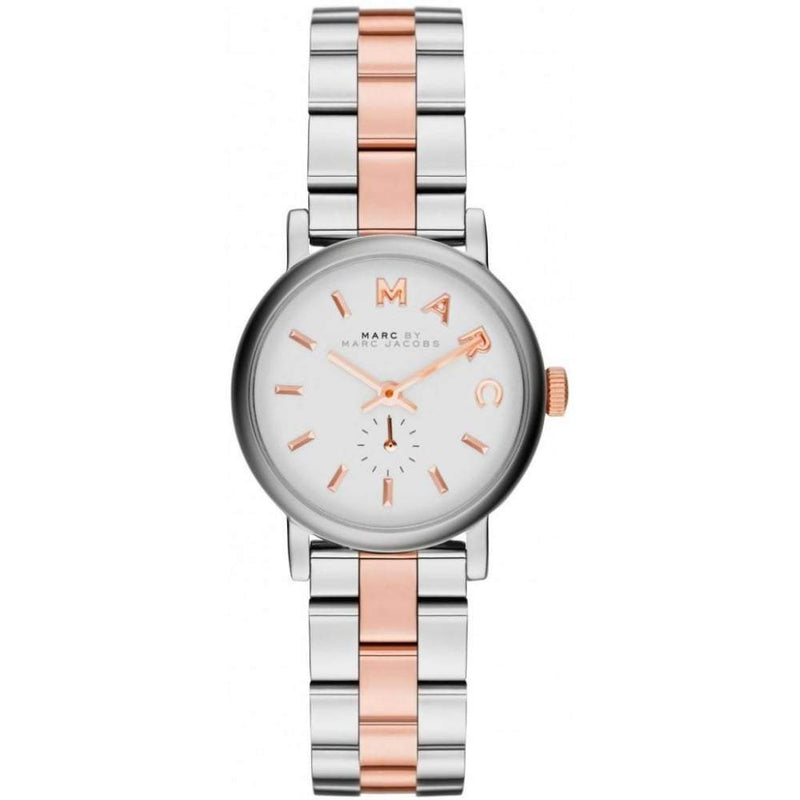 Ladies / Womens Baker Mini Two-Tone Stainless Steel Marc Jacobs Designer Watch MBM3331