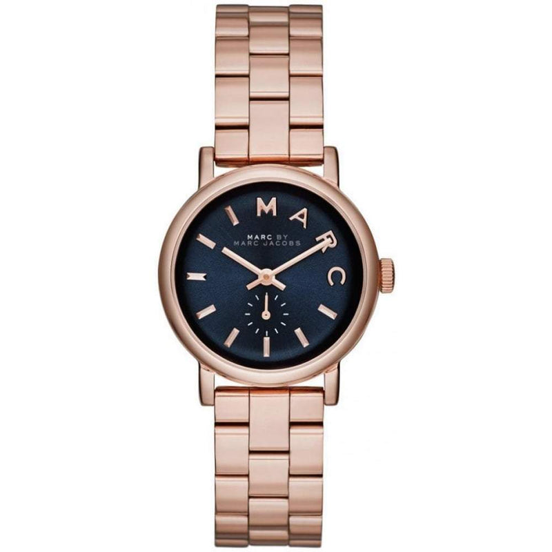 Ladies / Womens Baker Mini Rose Gold Stainless Steel Marc Jacobs Designer Watch MBM3332