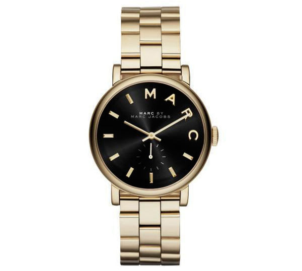 Ladies / Womens Baker Gold Stainless Steel Marc Jacobs Designer Watch MBM3355