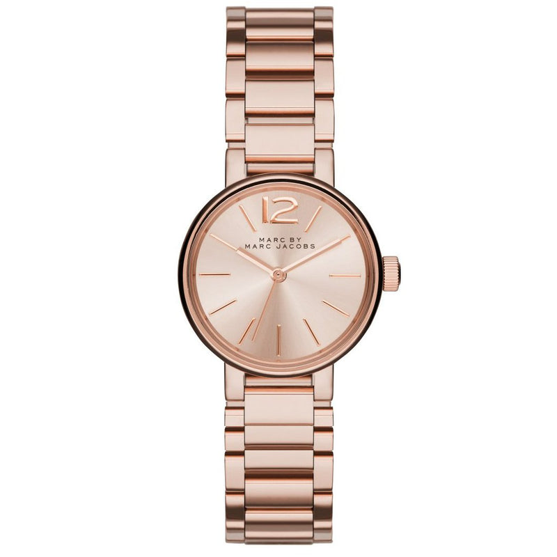 Ladies / Womens Peggy Rose Gold Stainless Steel Marc Jacobs Designer Watch MBM3406