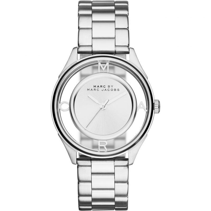 Ladies / Womens Tether Silver Stainless Steel Marc Jacobs Designer Watch MBM3412