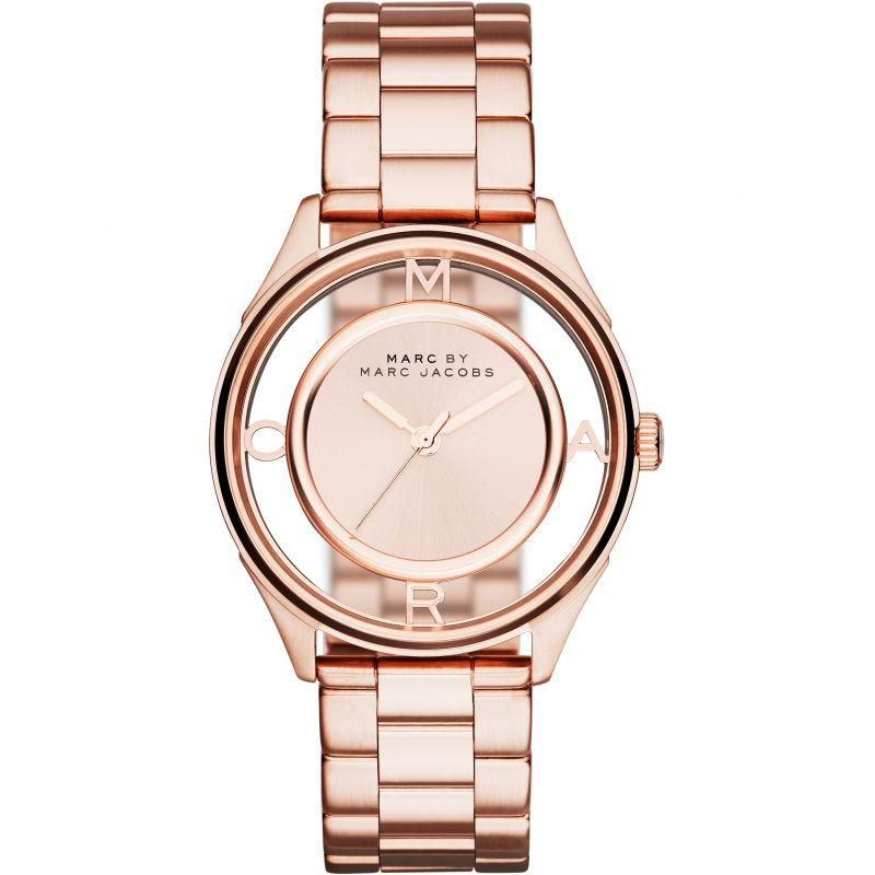 Ladies / Womens Tether Rose Gold Stainless Steel Marc Jacobs Designer Watch MBM3414