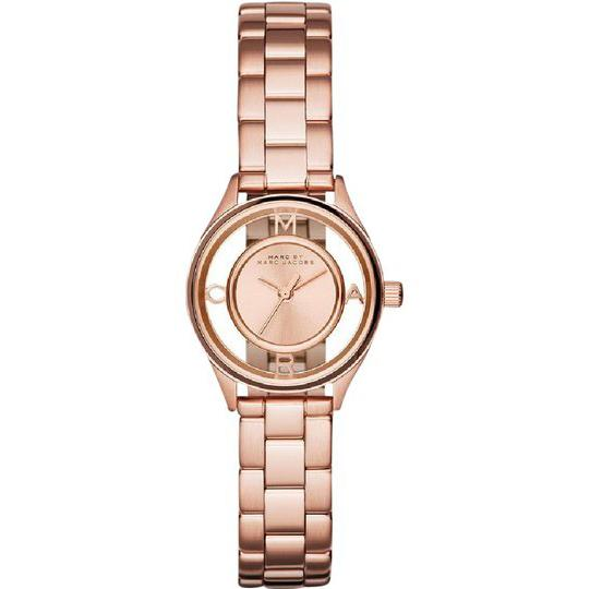 Ladies / Womens Tether Rose Gold Stainless Steel Marc Jacobs Designer Watch MBM3417