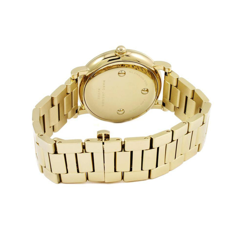 Ladies / Womens Roxy Gold Stainless Steel Marc Jacobs Designer Watch MJ3522