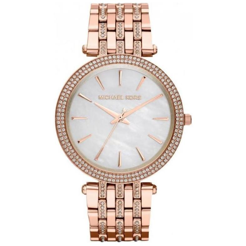 Ladies / Womens Darci Rose Gold Glitz Stainless Steel Michael Kors Designer Watch MK3220