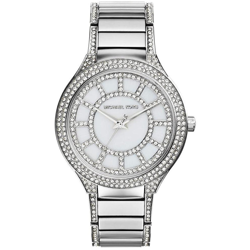 Ladies / Womens Kerry Crystal Silver Stainless Steel Michael Kors Designer Watch MK3311