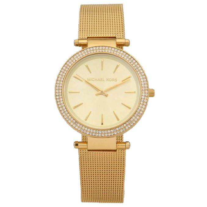 Ladies Darci Gold Tone Mesh Michael Kors Watch MK3368