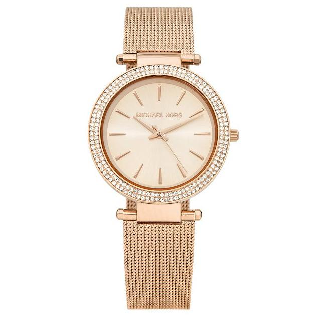 Ladies Darci Rose Gold Mesh Michael Kors Watch MK3369
