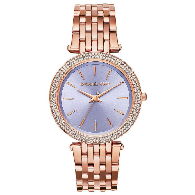 Ladies / Womens Darci Purple Two Tone Rose Gold Stainless Steel Michael Kors Designer Watch MK3400