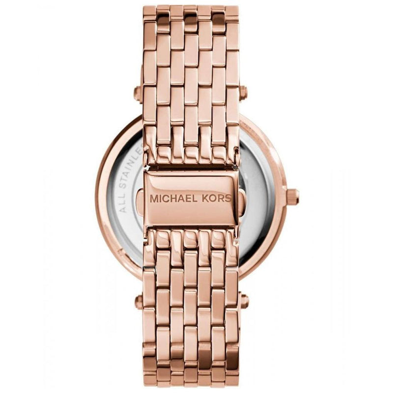 Ladies Darci Black and Rose Gold Stainless Steel Michael Kors Watch MK3402