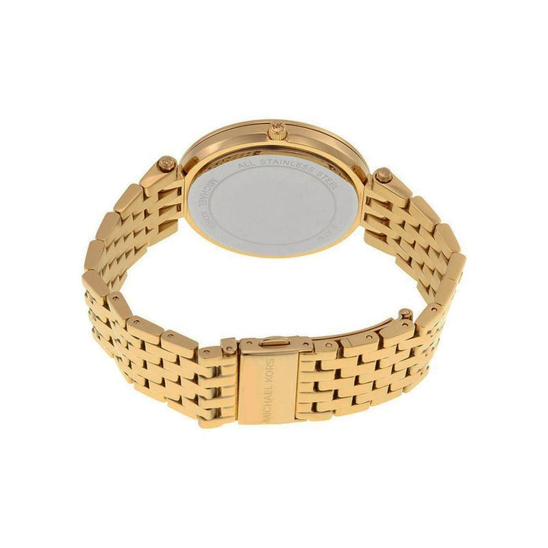 Ladies / Womens Darci Crystal Dial Gold-Tone Stainless Steel Michael Kors Designer Watch MK3438