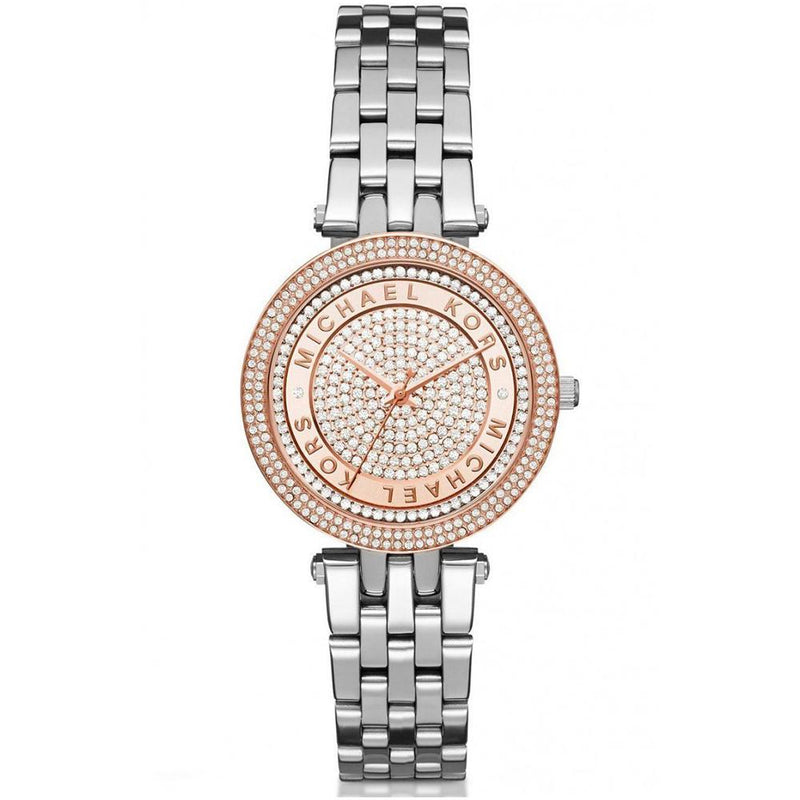 Ladies / Womens Mini Darci Rose Gold & Silver Stainless Steel Michael Kors Designer Watch MK3446
