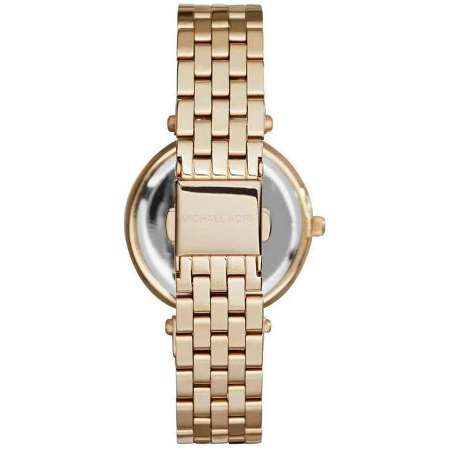 Ladies / Womens Gold Mini Darci Stainless Steel Michael Kors Designer Watch MK3738