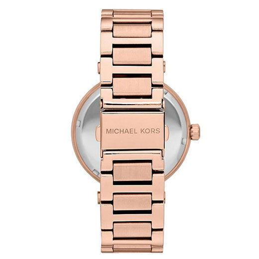 Ladies / Womens Skylar Crystal Rose Gold Stainless Steel Bracelet Michael Kors Designer Watch MK5868