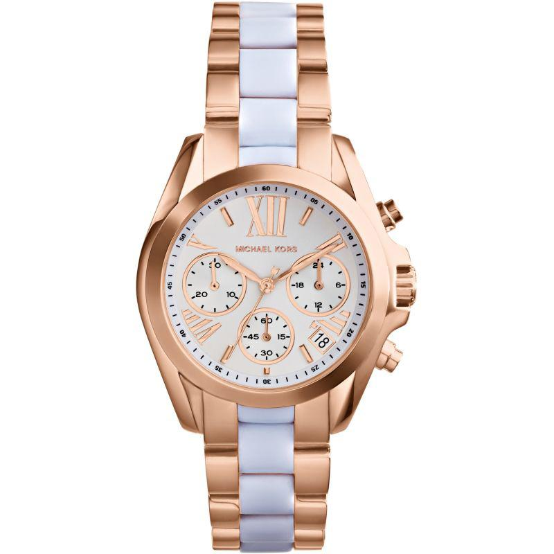 Ladies / Womens Bradshaw Mini Two-Tone Chronograph Michael Kors Designer Watch MK5907