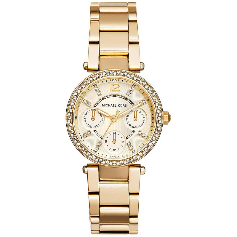 Ladies / Womens Mini Parker Gold Chronograph Michael Kors Designer Watch MK6056
