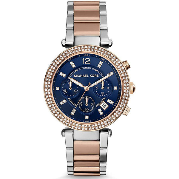 Ladies Parker Rose Gold and Silver Two Tone Chronograph Michael Kors Watch MK6141