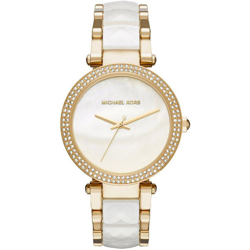 Ladies / Womens Parker Gold Tone Stainless Steel Michael Kors Designer Watch MK6400