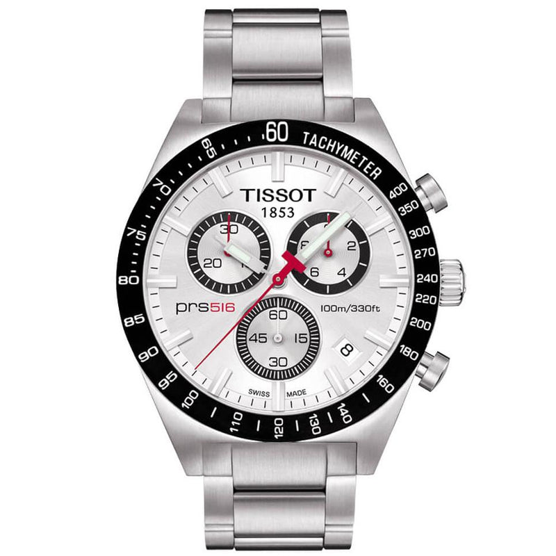 Mens PRS 516 Stainless Steel Chronograph Tissot Watch T044.417.21.031.00