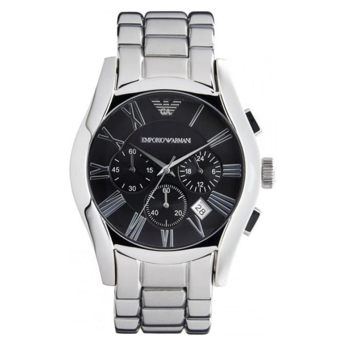 Mens / Gents Classic Gunmetal Grey Chronograph Emporio Armani Designer Watch AR0673